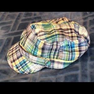 Plaid Cotton Beret - Hat Stuff